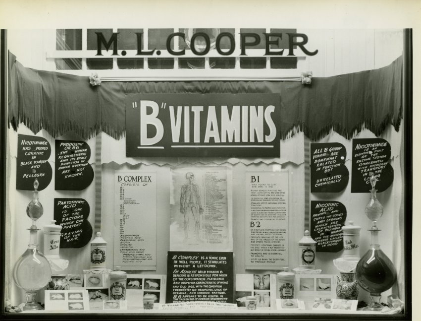 Cooper Pharmacy Window, JMM 1983.013.001