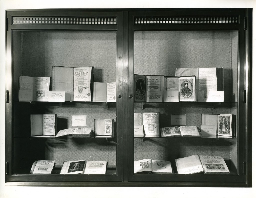 Baltimore ophthalmologist Harry Friedenwald amassed a collection of books and manuscripts that documents Jewish medical contributions from the Middle Ages to modernity. Harry Friedenwald's collection on display. Gift of Julia Friedenwald Strauss Potts, Jewish Museum of Maryland.