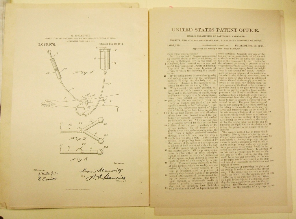 "Patent description and a diagram showing how the ""Combined Method Apparatus"" works. Gift in memory of Leonard J. Abramovitz, M.D. and Jeanne D. Abramovitz by their children, JMM 2001.26.50"