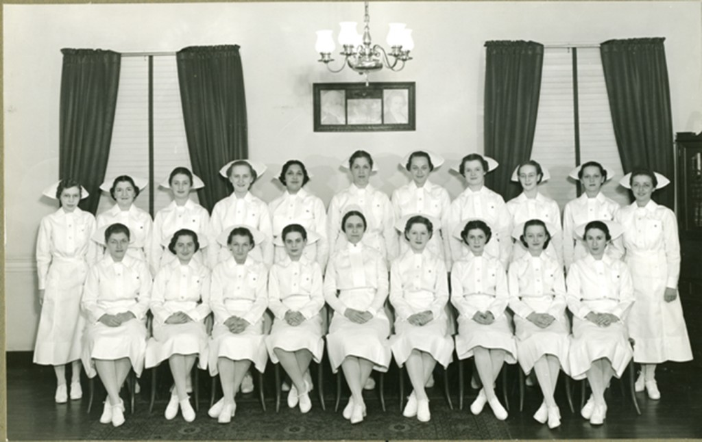 Sinai Hospital School of Nursing class of 1938 included Rosalie Silber (Abrams). Courtesy of the Nurses Alumnae Association of Sinai Hospital. Jewish Museum of Maryland, 2010.20.71