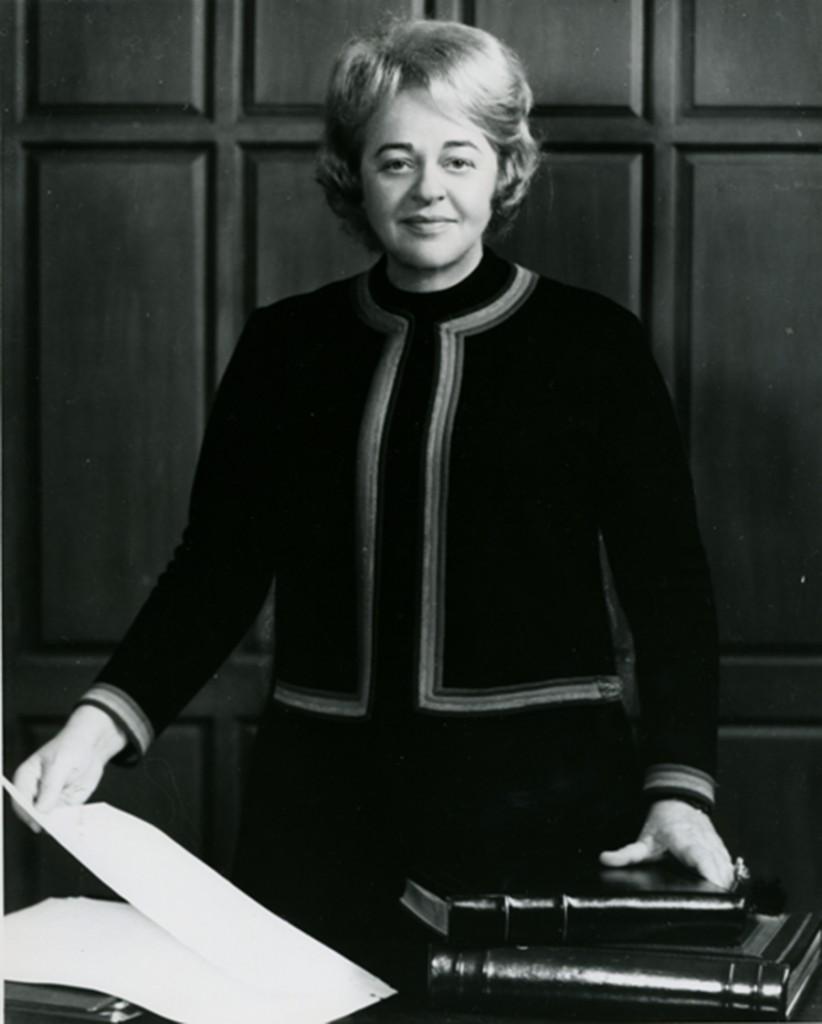 Senator Rosalie Silber Abrams in the Maryland Statehouse, c. 1970. Gift of the Nurses Alumnae Association of Sinai Hospital, JMM. 2010.20.191