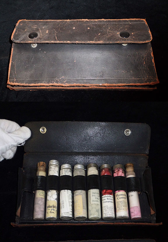 The doctor was also armed with a variety of drugs. JMM 2001.026.039