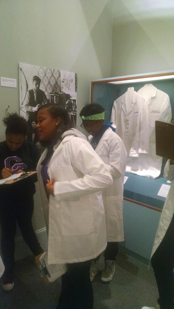 Future doctors from City Springs Elementary/Middle School, Baltimore, explore the Beyond Chicken Soup exhibit, 2016
