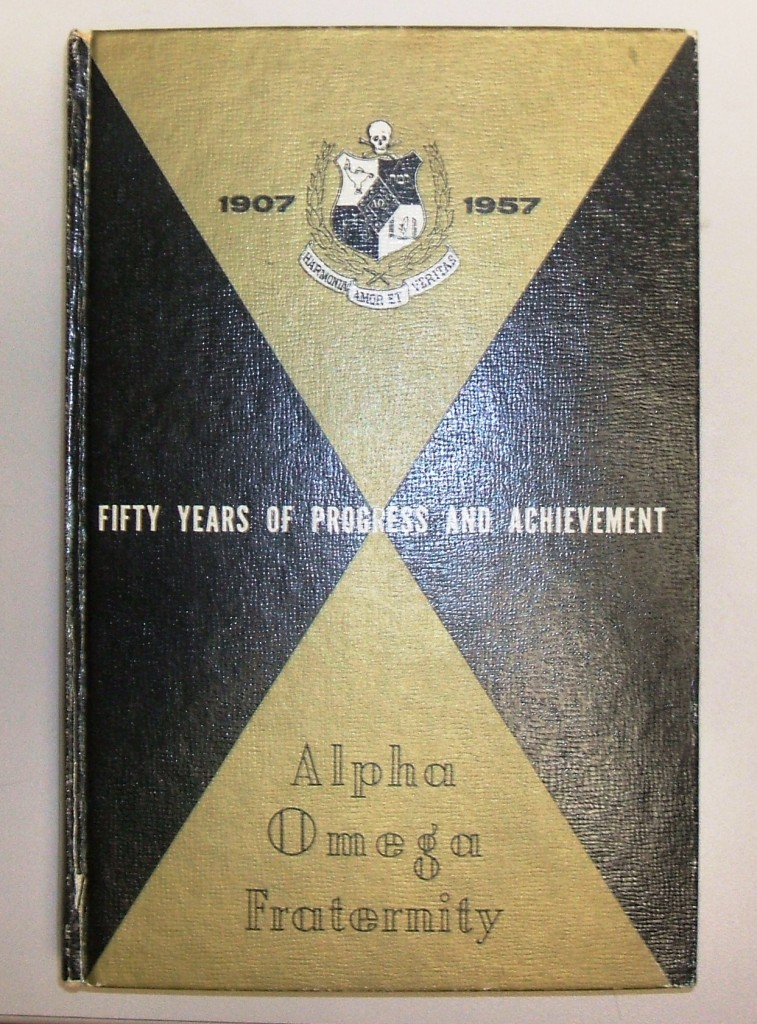 Alpha Omega Fraternity: Fifty Years of Progress and Achievement, 1958. Gift of Mr. and Mrs. Louis Kaplan. JMM 1985.58.1