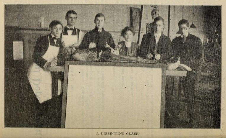 Dissecting photo from 1909-1910 book pg 19