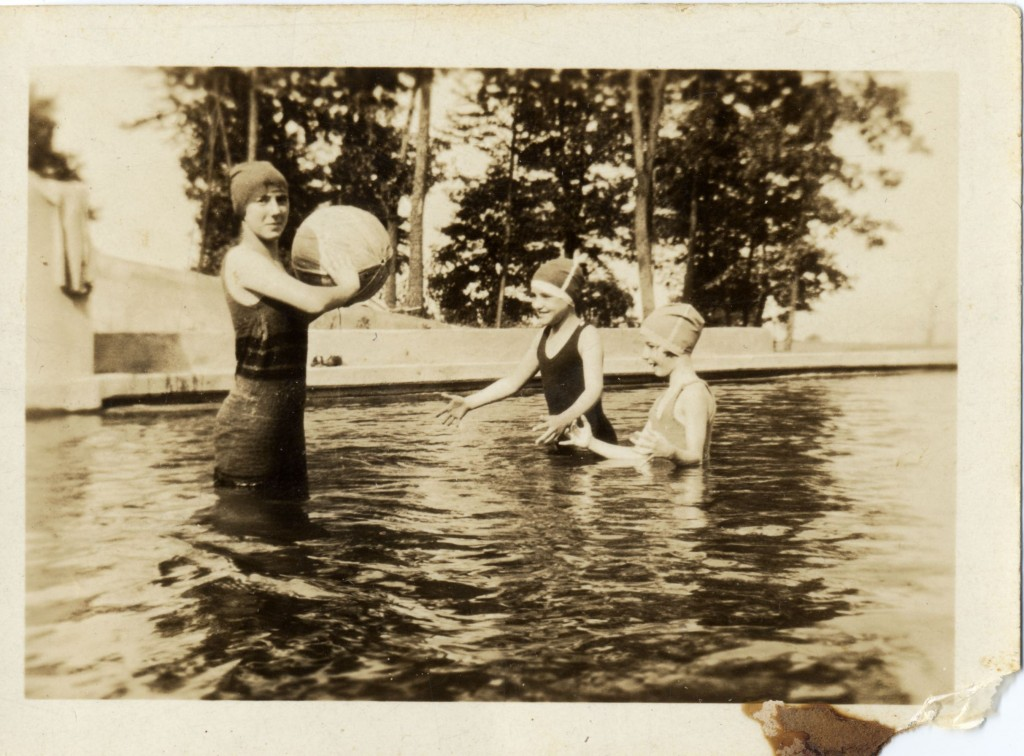 Ruth Cohen with two young campers, Camp Airy, Baltimore, circa 1920. Gift of Maxine A. Cohen. JMM 1993.59.51