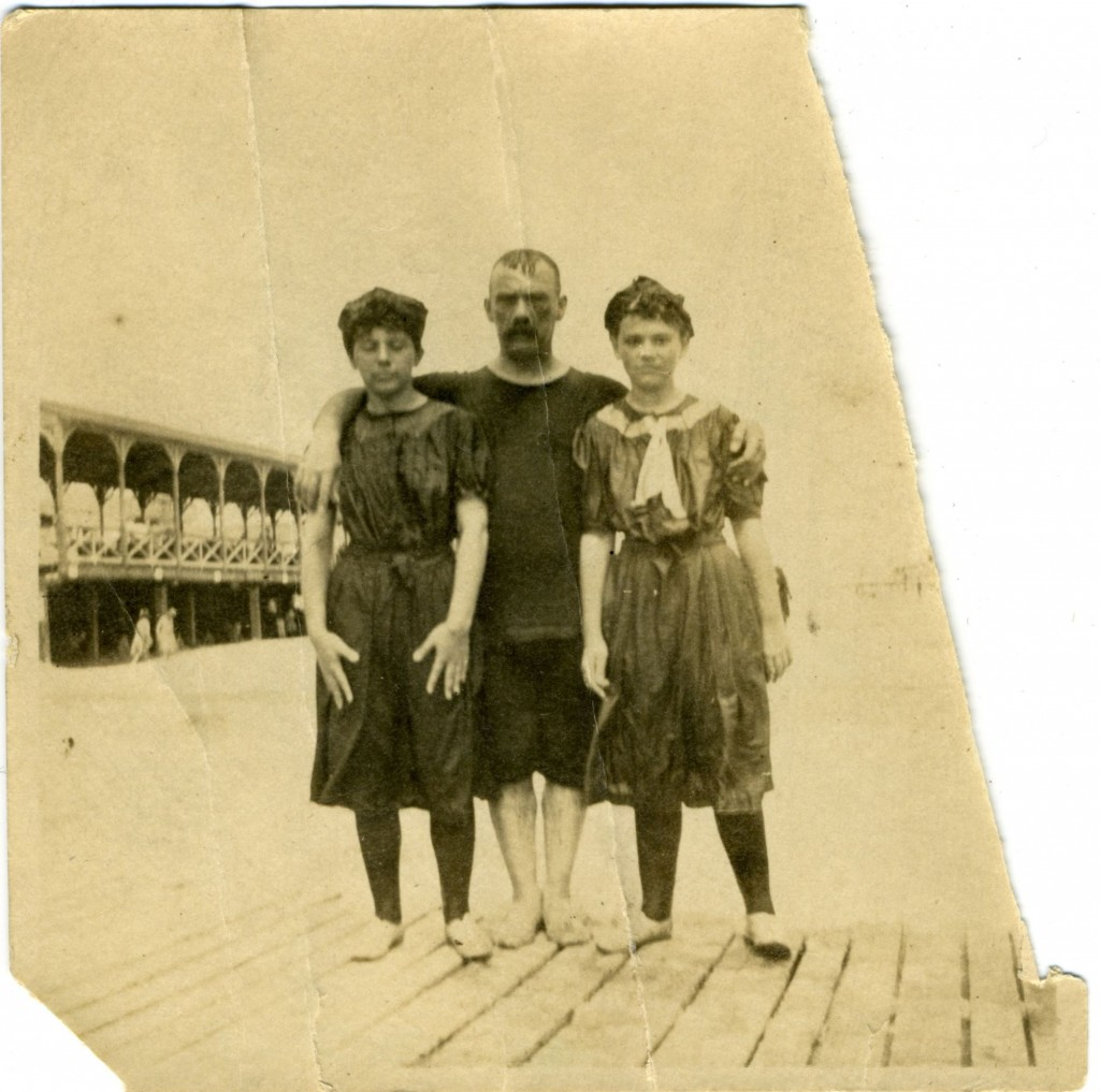 George Kraus with daughters Mabel and Edna, Atlantic City, circa 1905. Anonymous gift. JMM 2003.053.271