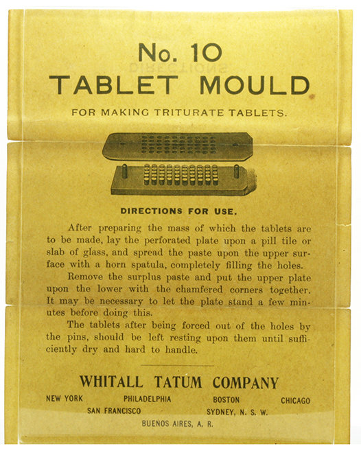 Antique pill maker, made by Whitall Tatum Company, tablet mold made from hard rubber, stamped 84, in great overall condition
