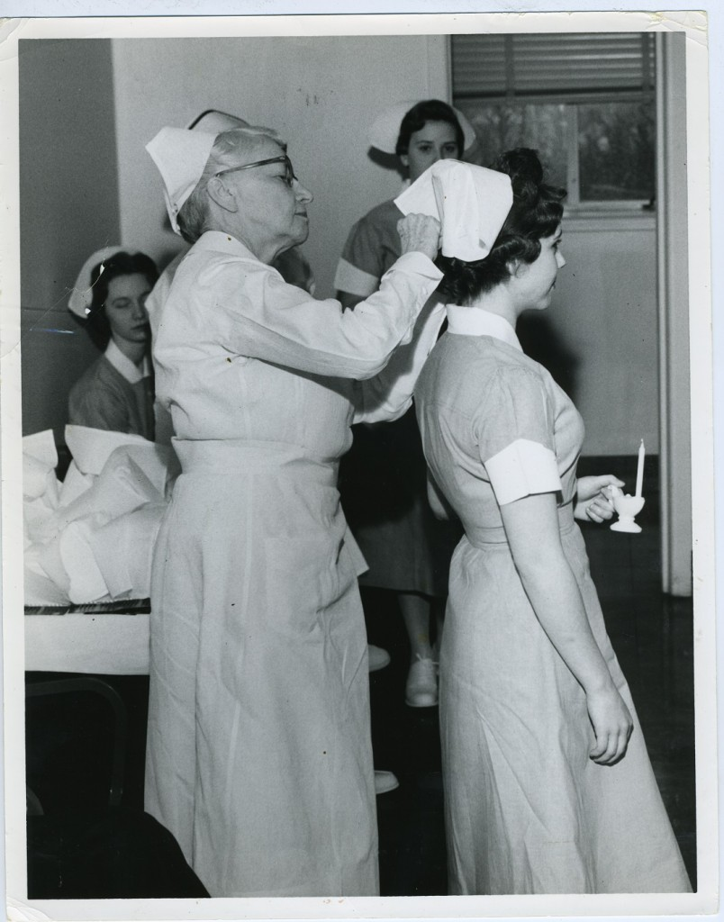 The capping picture that spurred this blog post.  Gift of the Nurses Alumnae Association of Sinai Hospital, JMM.  2010.020.017