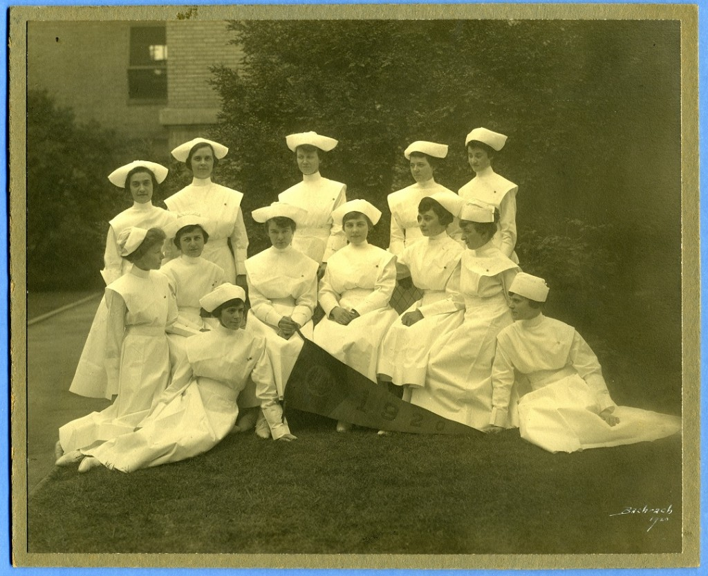 The Hebrew Hospital and Asylum School of Nursing, class of 1920. Is that Winnie standing in the back row, far left? Gift of the Nurses Alumnae Association of Sinai Hospital, JMM.  2010.020.057