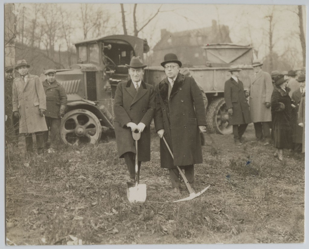 Groundbreaking for Montefiore Hospital on Fifth Avenue, 1927. Courtesy of the Rauh Jewish Archives of the Heinz History Center. CP5.2015.1