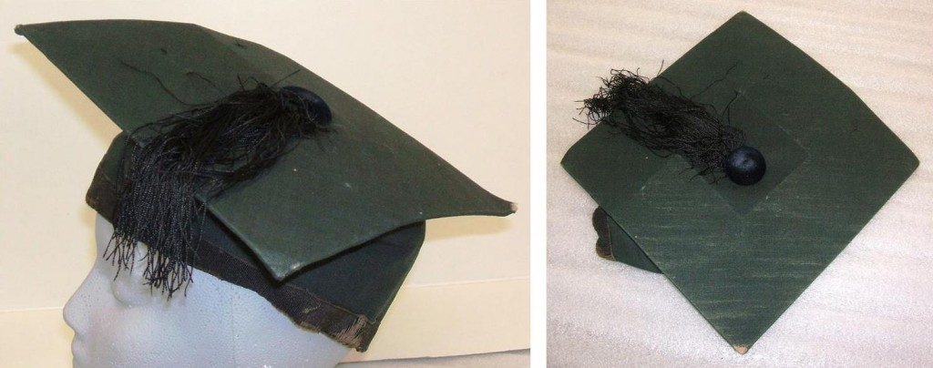 Dr. Aaron Friedenwald's academic cap, circa 1880s.  Anonymous gift. JMM T1989.114.3